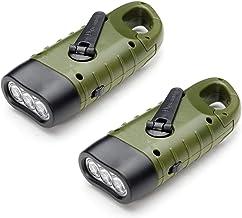 Dynamo zaklamp VADIV 2 / Pack LED zaklamp handslinger zonne-energie zaklamp camping noodgevallen LED zaklamp karabijnhaak ...