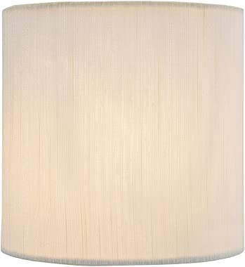 "Aspen Creative 31192 Clip ON LAMP Shade, 5"" x 5"" x 5"", Eggshell"