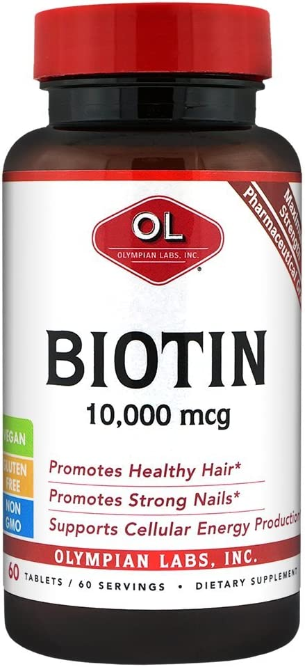 Olympian Labs Biotin Supplement Maximum Limited Long-awaited time cheap sale 000 mcg 10 Strength 60