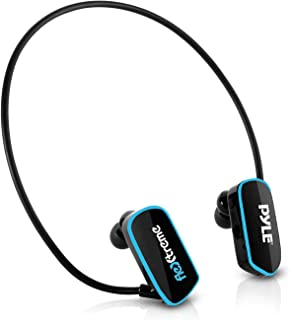 Pyle PSWP14BK Flextreme Waterproof MP3 Player w/Headphones, 8GB Built-in Memory