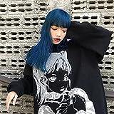 KAL'ANWEI Suéter Mujer Coreano Elegante Sólido Jersey De Cachemira Sobredimensionado Espeso Cálido Jerseys Tops Ropa Jumper Jersey-Negro_SG