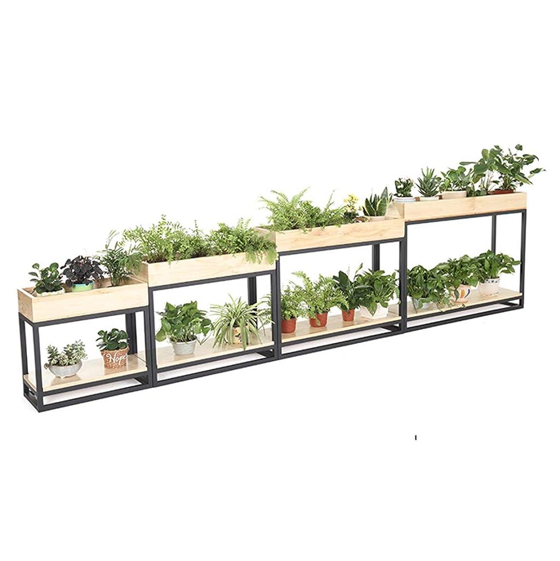 シネマ微弱水曜日堅牢 純木の植物の容器の錬鉄のレストラ? LL-12I3?の仕切りの花の棚の庭、バルコ? AQSG