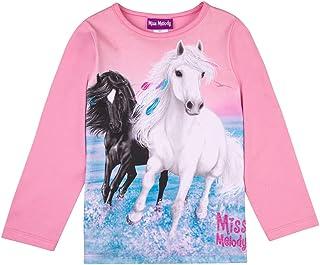 Miss Melody Niñas T-Shirt, Camisa de Manga Larga, Rosa