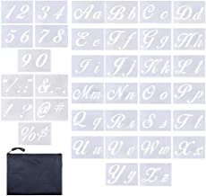 Letter Stencils 36 Pieces | Contains 26 Calligraphy Upper and Lowercase Letters, Numbers, Symbols, Letter Stencils for Pai...