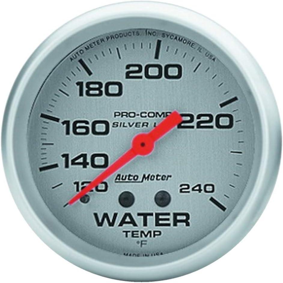 Auto Meter 4632 PRO 2-5 Max 63% OFF 8IN COMP Nashville-Davidson Mall Silver