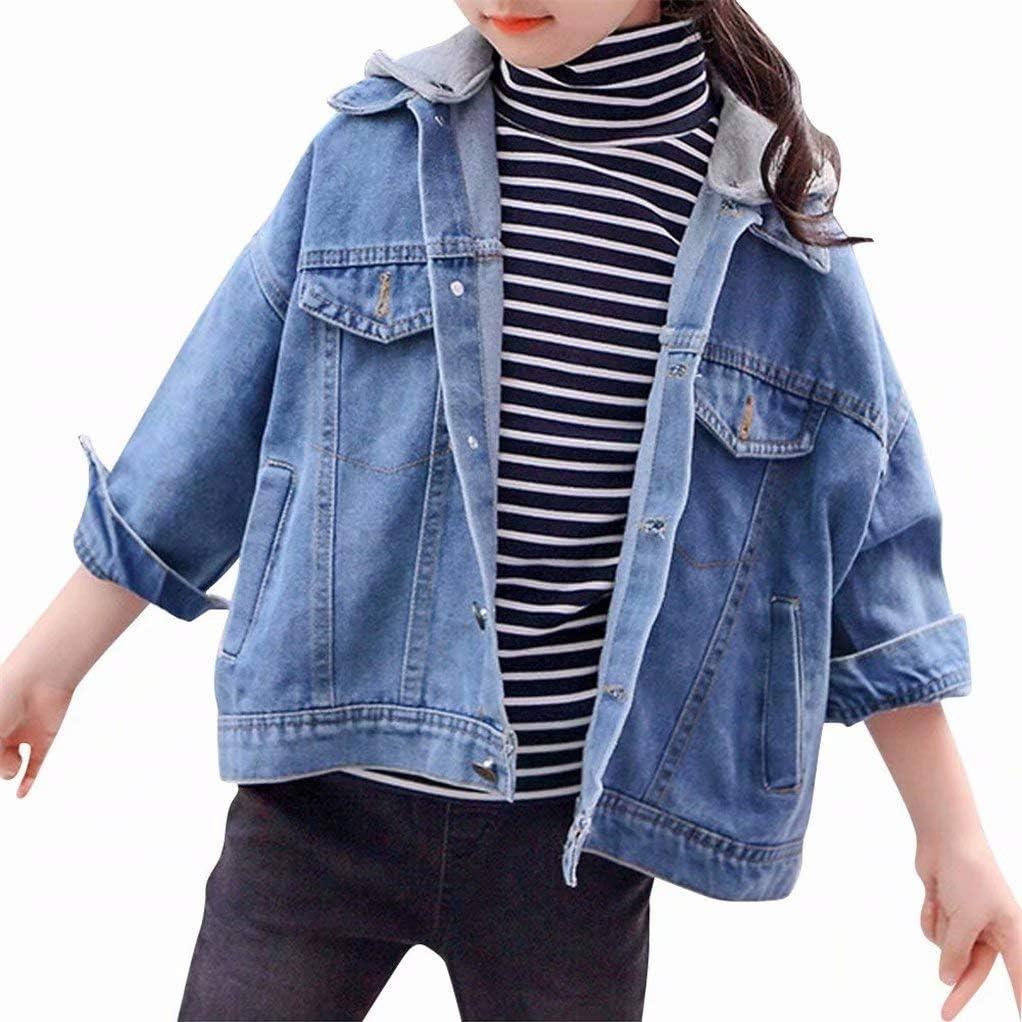 zhuluokeke Girls Fashion Jacket Coat Fashion Hooded Denim Jacket
