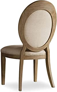 Hooker Furniture Corsica Upholstered Oval Back Dining Chair in Light (Set of 2)
