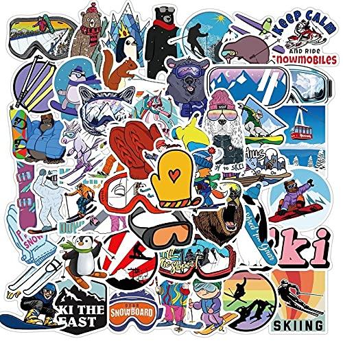 estéticas 10/50 / 100pcs Pegatinas de Surf al Aire Libre Deportes Playa Tropical Surfeando Etiquetas engomadas Impermeables a DIY Surfboard Car Skateboard Etiqueta engomada (Color : 50pcs Sticker)
