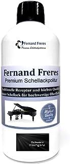 Schellackpolitur 250ml. Fernand Freres Klavierlack SCHWARZ - TRANSPARENT - BERNSTEIN - BLOND Hochglanz Politur Schellack gebrauchsfertig Schelllack Schwarz