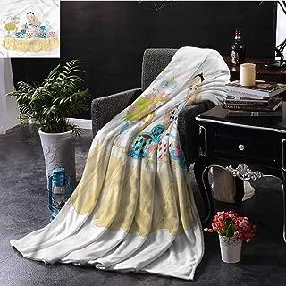 EDZEL Lightweight Blanket Alice in Wonderland Famous Scene for All Season 59x35 Inch