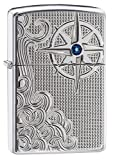 "Genuine Zippo windproof lighter with distinctive Zippo ""click"" All metal construction; windproof design works virtually anywhere Refillable for a lifetime of use; for optimum performance, we recommend genuine Zippo premium lighter fluid, flints, and ..."