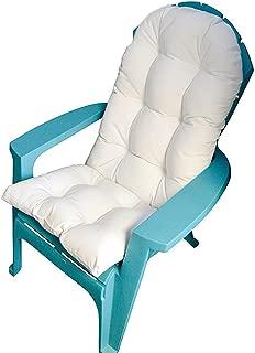 RSH DECOR Outdoor Tufted Adirondack Chair Cushion - Sunbrella Canvas White