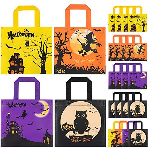 HOTSAN Halloween Süßigkeit Taschen Behandelt Taschen - 24 Stück wasserdichte Kinder Halloween Candy Taschen für Süßes oder Saures, Taschen für Leckereien Snacks, Halloween Goodie Taschen