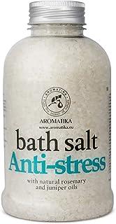 Sponsored Ad - De-Stress Bath Salt 600g w/Natural Rosemary & Juniper Oils - Natural Bath Sea Salts - Best for Good Sleep -...