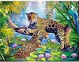 BinTing 3000 Piezas de Rompecabezas de Animales para Adultos, Rompecabezas de Leopardo, Rompecabezas de Madera, Juego Educativo, Juguete para Adolescentes y Adultos