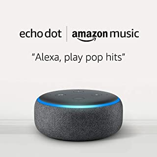 Echo Dot (3rd Gen) for $4.99 and 1 month of Amazon Music Unlimited for $7.99 with Auto-renewal | Charcoal