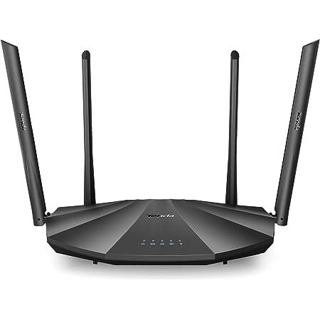 Tenda AC19 - AC2100 Dual Band Gigabit WiFi Router (Fácil Configuración 2.4GHz & 5GHz, 4X Puertos Gigabit, USB 2.0, MU-MIMO, Fibra Óptica, Gast-Red, ...