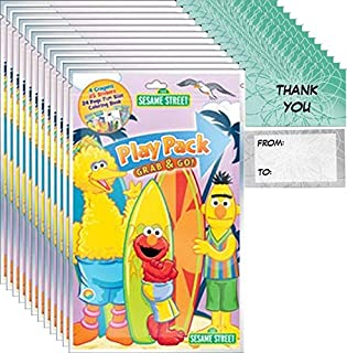 Sesame Street Grab n Go Play Packs (12 Packs) Party Favors and 12