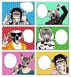 Lustige beschreibbare Postkarten für jeden Anlass 6er-Set - Tiermotive mit Sprechblase - Geburtstagskarte, Grußkarte, Danksagungskarte, Einladungskarte, Postkarte, Geschenkkarte, - beschriftbar, beschreibbar, beschreibbare, individualisierbare, persönliche Postkarten, Geburtstagskarten, Geschenkkarten, Grußkarten, Danksagungskarten, Einladungskarten, Postkarten Set