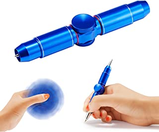Anstar Fidget Hand Spinning Pen, Spinner Toys, Ballpoint Pen Gift Boxes 100% Handcrafted for Business Adults & Kids, ADHD& Relieves Stress and Increase Focus (Glory Blue)