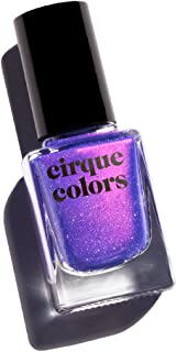 Cirque Colors Desert Bloom Collection - Shimmer Holographic Sparkle Nail Polish - Dusky Skies - Blue Violet - 0.37 fl. oz. (11 ml) - Vegan, Cruelty-Free, Non-Toxic Formula