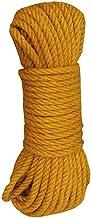 Yellow Jute Rope - 4MM(49 Feet) for DIY Crafts, Festive Decoration, Gardening
