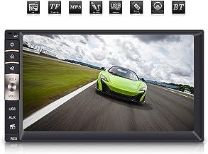 Qiilu Reproductor MP5 para Coche, Universal Auto Radio 2Din 7 Pulgadas Pantalla Táctil HD Bluetooth USB Estéreo/Am FM/TF AUX Entrada para Coche
