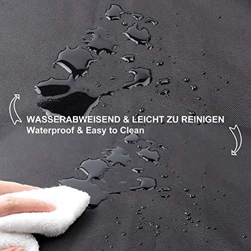 Toozey Funda para Maletero de Coche Universal, Impermeable & Antideslizante, 185 x 105 cm Funda para Perros para Todos los Autos, 2 Bolsillos Grandes, Cuenco Plegable y E-Book Bono, Negro