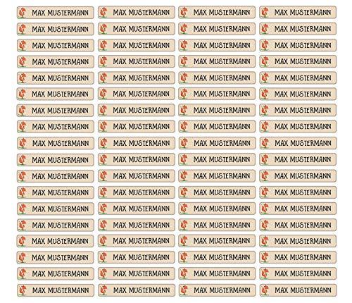 Stifteaufkleber für Bleistifte, Kugelschreiber & weitere Namensaufkleber - Aufkleber 49x7,5mm | 72 Stück Kinder & Erwachsene Schule & Kindergarten 37 Hintergründe in Auswahl (25 Fuchs)