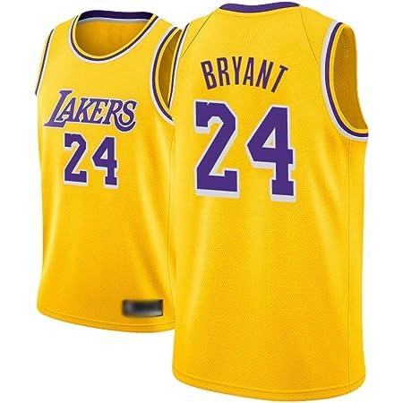 MGKMG Camiseta de Baloncesto para Hombre, NBA, Los Angeles Lakers #24 Kobe Bryant. Bordado Swingman Transpirable y Resistente al Desgaste Camiseta para Fan,A,S