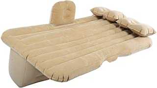 Italish Foldable Travel Bed   Car Air Mattress   Car Inflatable Bed with Repair Kit, Two Pillow and Pump (Multi Color)