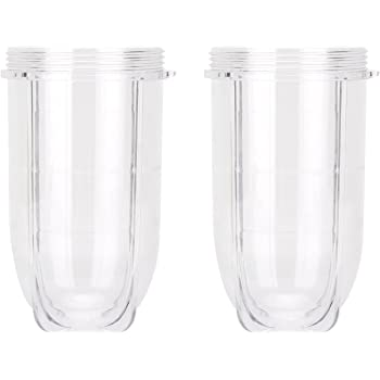 2 Pack Replacement 16 Ounce Tall Jar Cups For Magic Bullet Blender Juicer Mixer 250W ANS/_Light
