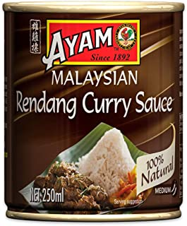 AYAM Rendang Curry Sauce | Mild, Spicy & Balanced | Gluten, Dairy, Shellfish & Egg Free | for Vegans | 100% Natural | No A...