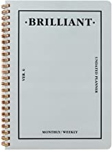 PAPERIAN Brilliant Monthly & Weekly Planner - Wirebound Undated Monthly &Weekly Planner Book Scheduler Diary (Grey Sky)
