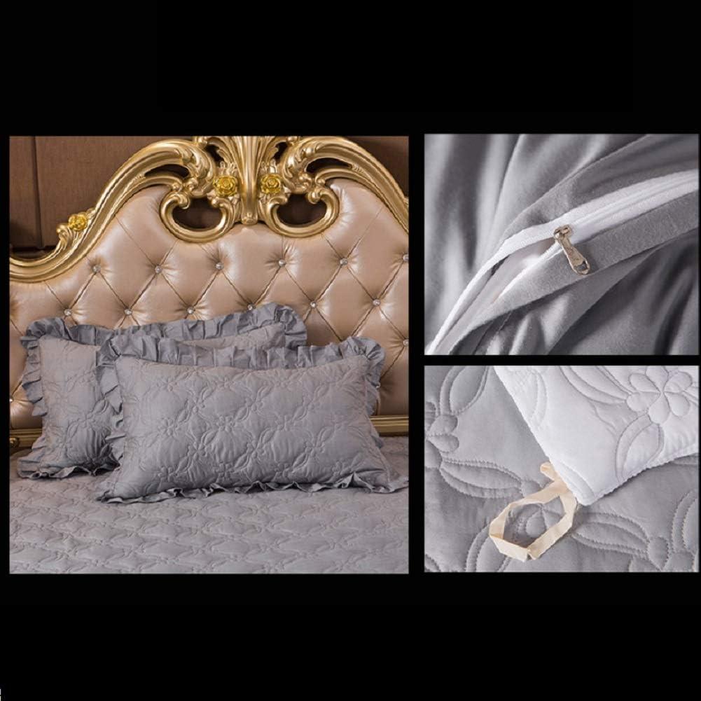 Coton Matelasse Dentelle Jupe De Lit, Poussière Ruffle Collection Fantaisie Trois Tissus Côtés Soyeux Doux Européen-Style Non-Slip Lit Couverture-b 180x200cm E