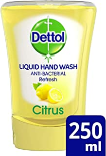 Dettol No-Touch Refill Anti Bacterial Hand Wash Odour Neutralising Fresh Citrus Squeeze (250ml)