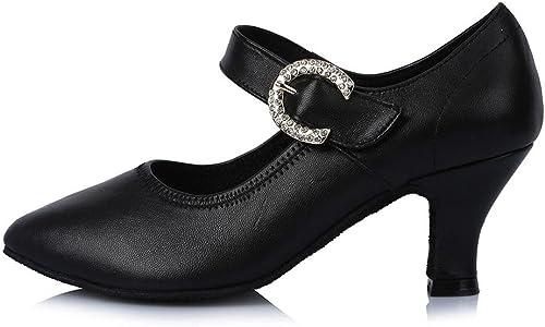 YFF Toe fermé Professionnel Chaussures de Danse Moderne Salsa Tango de Bal en Cuir Partie Amérique