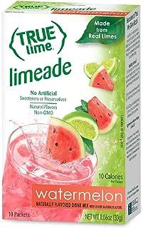 NEW FLAVOR: True Lime | WATERMELON AQUA FRESCA (Pack of 4) 10ct each box. True Lemon | True Citrus NON GMO and NO GLUTEN