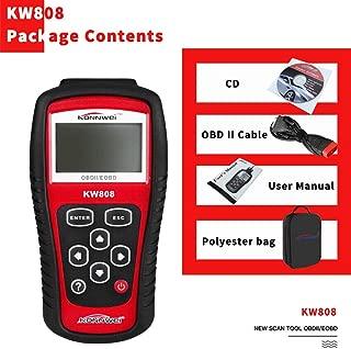 KONNWEI OBDII/EOBD車コードリーダー OBDIIスキャナー 自動スキャナー検出デコーダー KW808