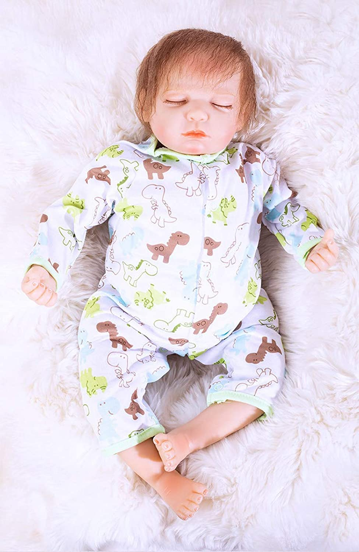21 Inch 52cm Soft Vinyl Silicone Lifelike Reborn Baby Dolls Realistic Newborn Baby Dolls Sleeping Doll Xmas Gift