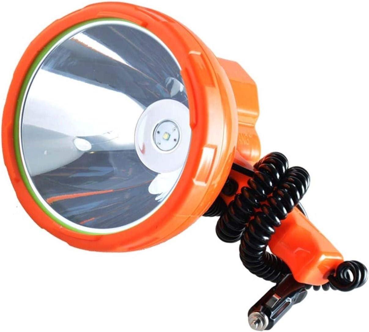 JSJJAUA Faroles de Mano 12v lámpara de la Pesca 1000m, 50W llevó la luz del vehículo - montado Reflector LED, Super Brillante proyector Portable for Acampar, Coche, la Caza (Emitting Color : 50W LED)
