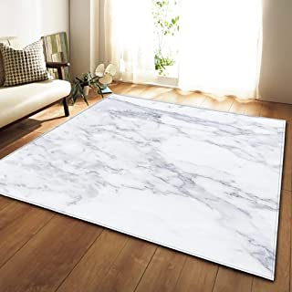 古典的な長方形ホームアートカーペットシンプルな大理石柄のリビングルームの寝室大面積の敷物モダンなミニマリストのソファベッドサイドパッドダニの滑り止めの子供クロールマット、カスタマイズ可能(サイズ:120 * 180 CM) (色 : F f, サイズ さいず : 100*150CM)
