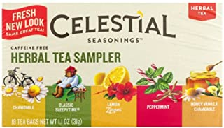 Celestial Seasonings Herbal Tea Sampler with 5 Flavors 18 ea ( Pack of 3)
