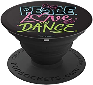 Nickelodeon JoJo Siwa Peace Love Dance Colorful Word Stack - PopSockets Grip and Stand for Phones and Tablets