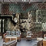 SKTYEE Livraison gratuite Murale 3d Tuyau En Métal De Style Industriel Plaque En Métal De Fond D'écran Fond D'écran TV Mur Papier Peint Lobby Papier Peint, 200x140 cm (78.7 x 55.1 in)
