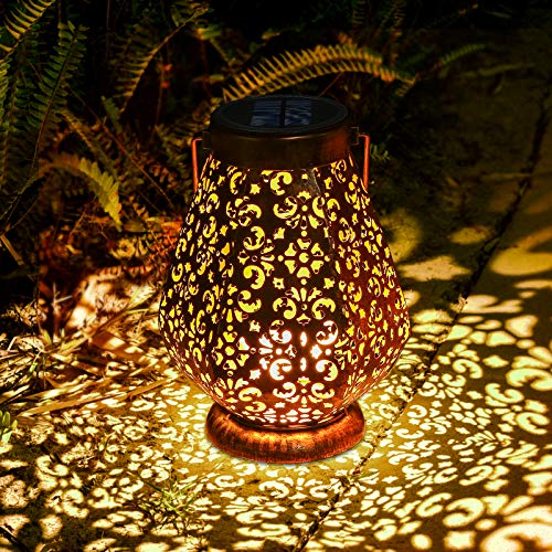 Solarlaterne für Außen, LED Solar Laterne für Draußen mit IP65 Wasserdicht, Deko Orientalische Solarlampen für Außen Garten, JOYCREATOR Solarlampen Aussen Hängend