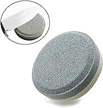 HHORD Piedra De Afilar De Doble Grano, Afilador Circular De Piedra De Afilar, Abrasivo De Óxido De Aluminio - para Utensilios De Cocina Al Aire Libre (2 Piezas)