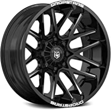 Dropstars Deep Concave Сustom Wheel - 654Bm Gloss Black with CNC Milled Accents 22