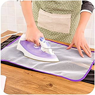 Dndnchun 1x Ironing Board Clothes Protector, Insulation Clothing Pad Laundry Polyester, Protective Ironing Scorch Mesh Cloth, Pressing Pad-Protective 58cm39.5cm