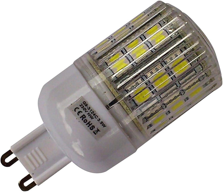 4 x G9, 24 SMD-LED 3.8W 350LM Warm-wei, mit Abdeckung